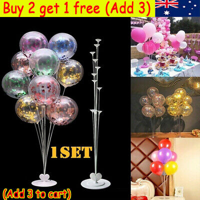 AU9.69 • Buy 7 In 1 Plastic Balloon Accessory Base Table Aupport Holder Cup Stick Stand