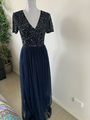 AU40 • Buy Navy Blue Sequin ASOS Dress 10