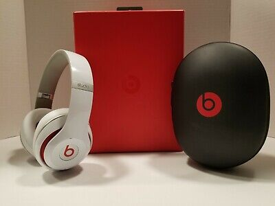 Beats By Dr. Dre Studio 2 Wired OverEar Headphones White/Red BO500 • 71.53£