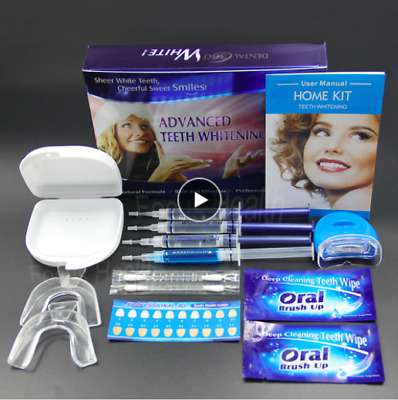 AU19.99 • Buy Professional Teeth Whitening Kit Mouth Tray Gel Strips White Oral Gel Care
