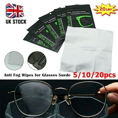 10/20x Reusable Anti Fog Glasses Lens Fabric Cleaning Cloth Wipe Defogger Cloth • 4.65£