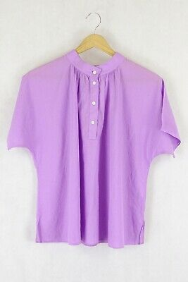 AU11 • Buy Uniqlo Lavendar Wide-Style Blouse S By Reluv Clothing