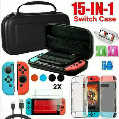 15 IN1 For Nintendo Switch Carrying Case Bag Protective Hard Cover + Accessories • 8.99£