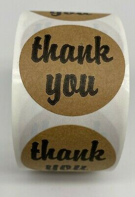 $8 • Buy 1 Roll 500 Thank You Craft Paper Mailing Envelope Seal Labels Stickers