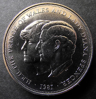 1981 LADY DIANA SPENCER ROYAL WEDDING COMMEMORATIVE CROWN COIN. Spink 4229 • 1.99£