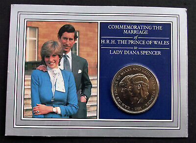 Marriage Lady Diana Spencer Prince Royal Wedding Commemorative Crown Coin.  • 4.99£