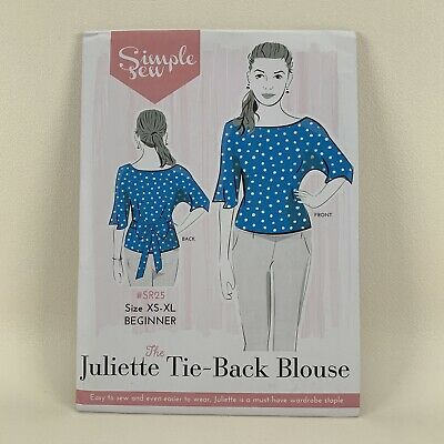 Simple Sew Juliette One Piece Shirt Top Tunic Ties EASY Ladies New Uncut Pattern • 8.99£