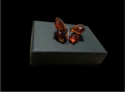 Lalique Crystal France Signed Papillion Delaliq Butterfly Pendant • 125£