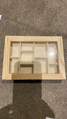Wooden Storage Box With Compartments Gift Box Craft  Jewelry Case • 1.70£