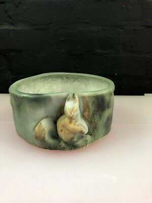 Rare Langley Mill Pottery Langley Ware SQUIRREL Animal Figure Planter Tree Trunk • 49.99£