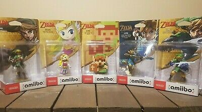 AU324.95 • Buy Zelda Link Nintendo Amiibo X 5 Archer Collectable Figure Amibo Rare