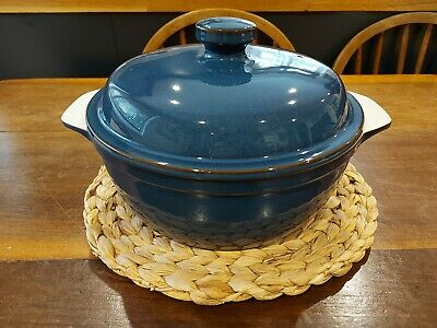 Denby Boston  Blue  Casserole Dish With Lid  • 10£