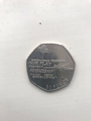 London Olympic 50p Rowing Fifty Pence Coin Circulated 2011 • 0.99£