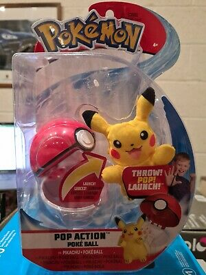 Pokemon Pop Action Poke Ball - Pikachu Mouse Soft Toy - Launch Up To 10 Feet! • 14.99£