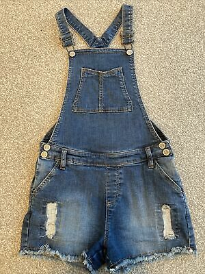 Girls Denim Dungarees Age 10-11 M&S • 2£