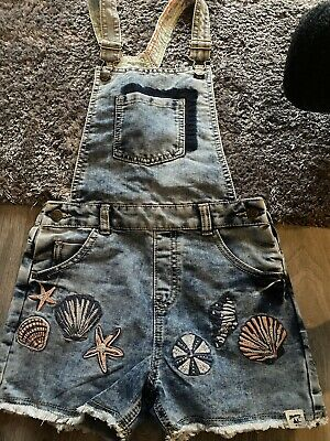 Girls Mantaray Dungaree Shorts Age 10 • 2.50£