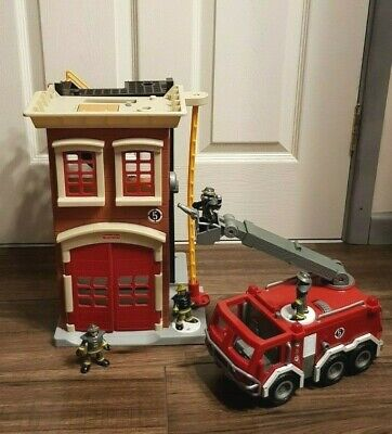 Fisher Price Imaginext Fire Station, Fire Engine And Figures Bundle • 16.99£