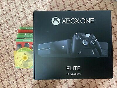 AU138.50 • Buy Xbox One Elite Console 1TB Hydrid Drive Plus 6 Games | Used | Updated & Reset