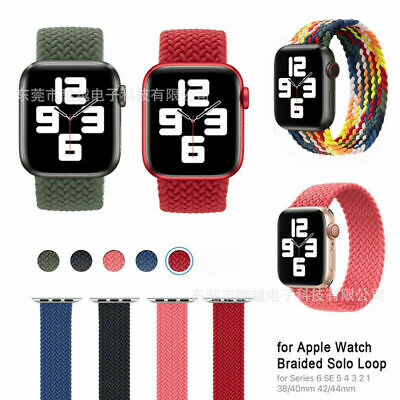 AU13.99 • Buy For Apple Watch Series 6 5 4 3 2 Se 38/40/42/44mm Braided Nylon Watch Band SOLO