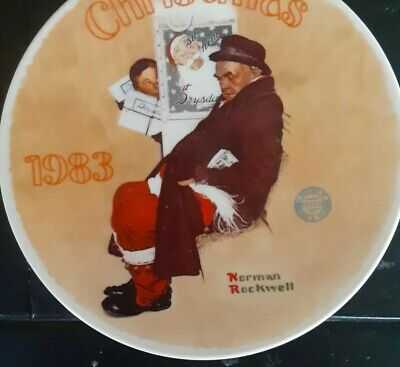 $ CDN7.31 • Buy Vintage Norman Rockwell's 1983   Santa In The Subway  Plate
