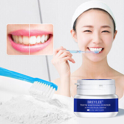 Natural Teeth Whitening Powder Toothpaste Activated Pearl Remove Plaque Stains • 3.08£