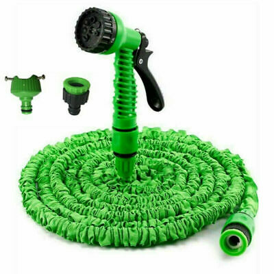 Expandable Garden Hose Flexible 25 Ft Pipe Expanding With Spray Gun Uk • 6.69£