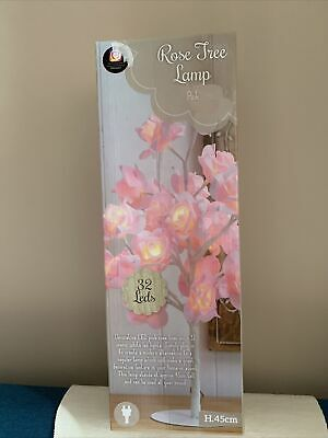 New Beautiful Pink Rose Bouquet 32 LED's Tree Table Lamp Bedside & Party Light • 18.99£