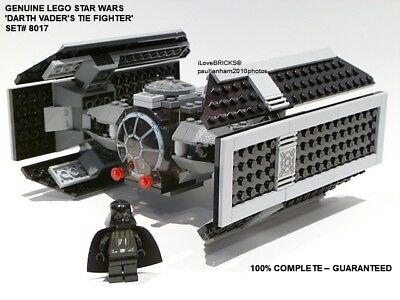 Lego Star Wars Darth Vader's Tie Fighter Set# 8017 100% Complete Guarantee • 54.99£
