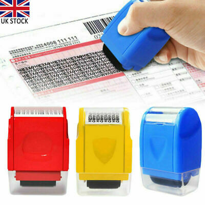 ID Theft Protection Stamp Roller Easy Guard Your Data Identity Security Privacy • 5.69£