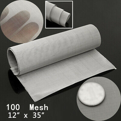 £8.38 • Buy 100Micron Stainless Steel Woven Wire 70 Mesh 316l Filter Screen 12 X36