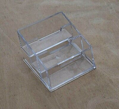 £5 • Buy NEW Business Card Holder 3 Part Acrylic Clear Display Stand Retail Counter Desk