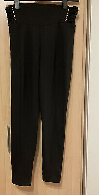 Ladies New River Island Lace Up Side Leggings Size 10 • 5£
