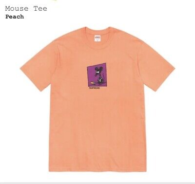 $ CDN113.97 • Buy Supreme SS21 Mouse Tee T-shirt Peach Size Small IN HAND