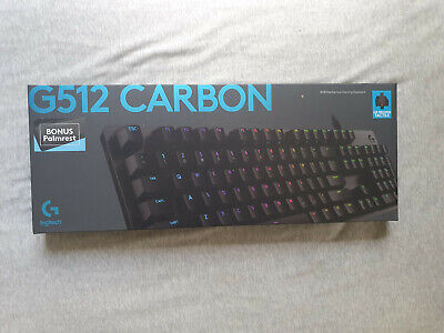 AU79.99 • Buy Logitech G512 Carbon GX BROWN RGB Mechanical Gaming Keyboard W/ Wrist Rest USED