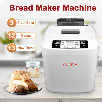 View Details Electric Bread Maker Machine Automatic Breadmaker 12 Programmes 550W White • 69.99£