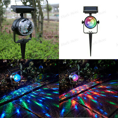 Solar LED Carnival Spotlight Colour Changing Projection Stake Light Outdoor Kits • 8.99£