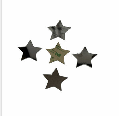 Acrylic Mirror Stars And Hearts (self Adhesive Back) 50mm High 3mm Thick • 4£