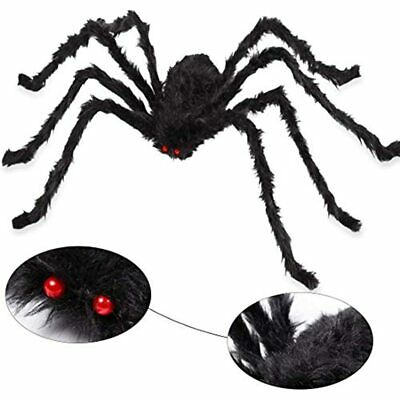 $ CDN19.98 • Buy Giant Halloween Spider 6.6 Ft. 200cm, Scary Yard Decorations Large Black Hairy