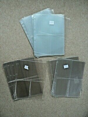 £10 • Buy Plastic Pages / Sleeves For Postcard / PHQ Album - A4, 4 Rings, 4 Pockets
