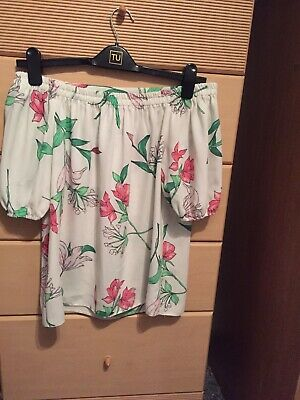 Ladies Bardot Summer Floral Top Blouse Debenhams Collection Size 12 Immaculate • 5.50£