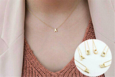 £1.60 • Buy Women Alphabet Word Necklace Gold Silver Letter Initial Chain Friendship