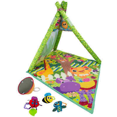 Lamaze 4-in-1 Play Gym Animal Fitness Floor Mat Activity Center Baby Toy Playmat • 14.99£