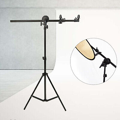 £28.80 • Buy Reflector Holder Studio Boom Arm Light Stand Rotate Disc Grip Photography NEW
