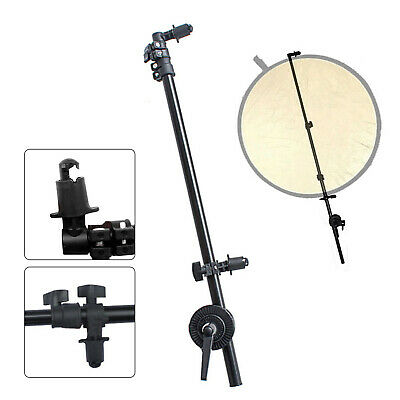 1.75M Collapsible Reflector Holder Studio Boom Arm Grip Disc Photography Grip UK • 22.99£