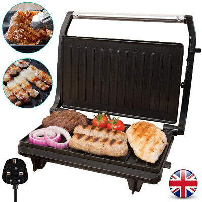 2 Slice Press Panini Toasted Sandwich Maker And Multi Use Health Grill 750W UK • 20.98£