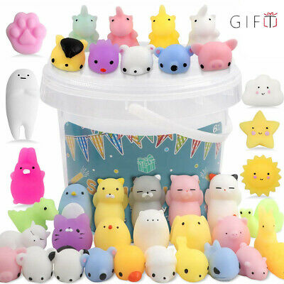 AU8.99 • Buy 50x Cute Mini Animal Squishies Kawaii Mochi Squeeze Toys Stretch Stress Squishy