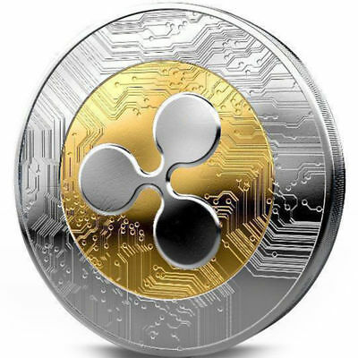 AU3.29 • Buy NEW!Ripple Coin Gold Plated Physical XRP Coin Collectible Coin With Plastic Box