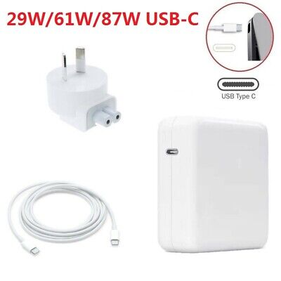 AU39.99 • Buy 29W 61W 87W USB-C Power Adapter Charger Type-C For Apple Macbook Air Pro Laptop