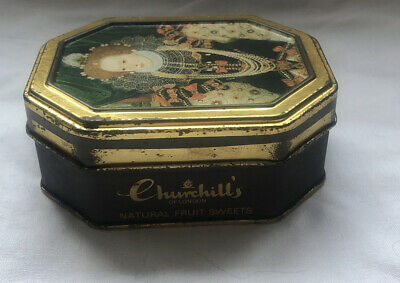 Churchills Of London England Natural Sweet Tin With Elisabeth I On Front • 2£