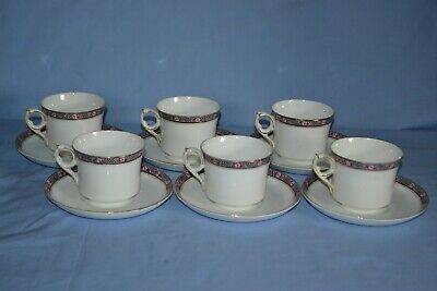 Vintage Royal Grafton Noirette Set OF 6 Bone China Tea Cups & Saucers • 30£